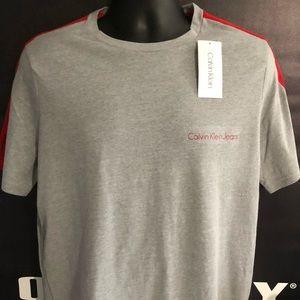 calvin klein  men's logo tee shirt M new